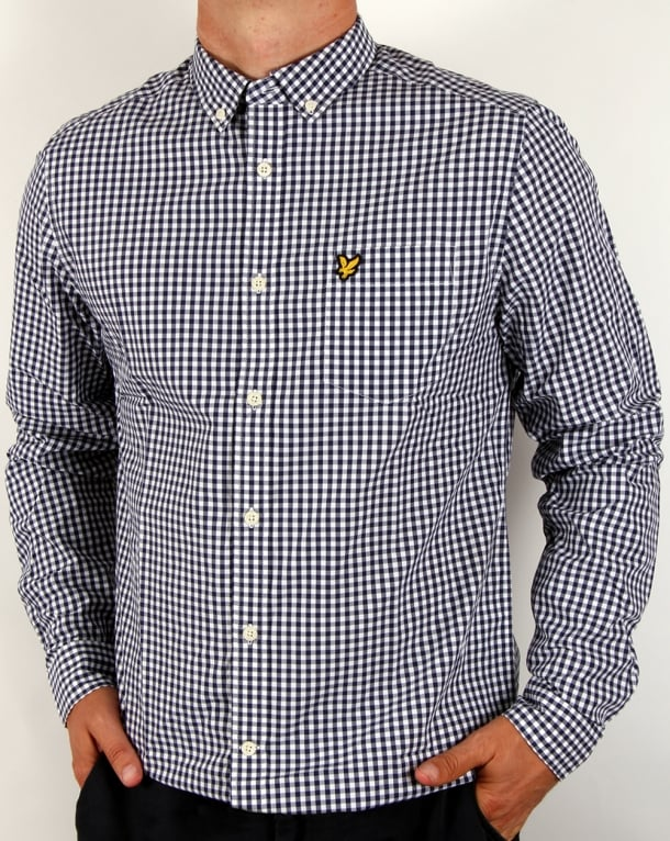 Lyle And Scott Gingham Check Shirt Navy