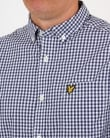 Lyle and Scott Gingham Shirt Navy