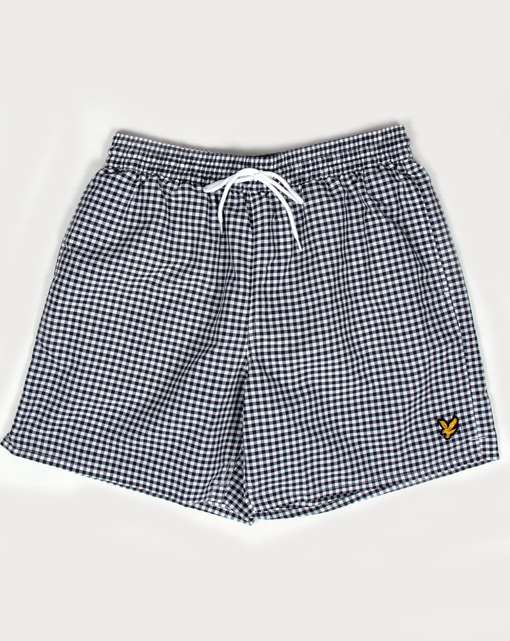 65edd1fae5b35 Lyle And Scott Gingham Swim Shorts Navy, Men's, Pool, Swimmers