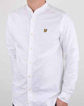 Lyle And Scott Grandad Collar Shirt White
