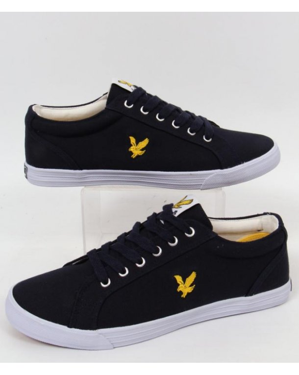 Lyle And Scott Halket Canvas Pump Navy Blue