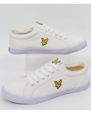 Lyle And Scott Halket Canvas Pump White