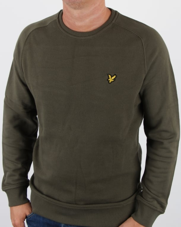 Lyle And Scott Honeycomb Sweatshirt Olive