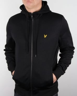 Lyle And Scott Hooded Funnel Neck Track Top Black