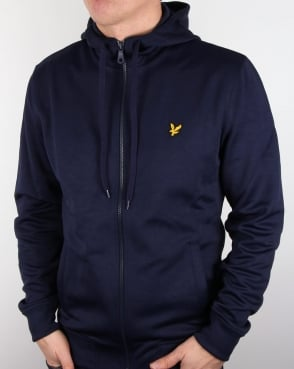 Lyle And Scott Hooded Funnel Neck Track Top Navy