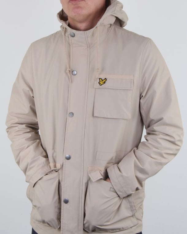 Lyle And Scott Hooded Jacket Stone