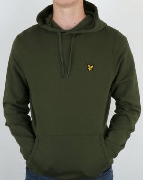 Lyle And Scott Hoodie Olive Green