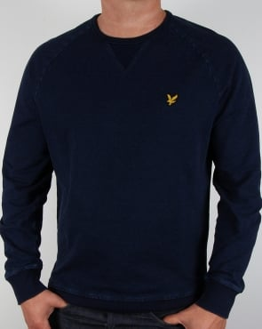 Lyle And Scott Indigo Crew Neck Sweatshirt Dark Indigo