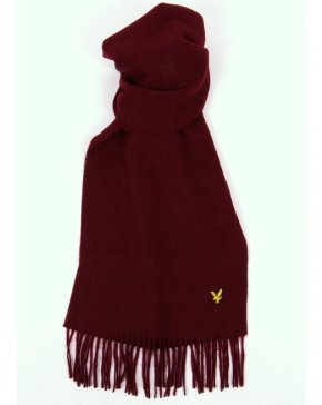 Lyle And Scott Lambswool Scarf Claret Jug