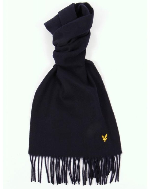Lyle And Scott Lambswool Scarf New Navy