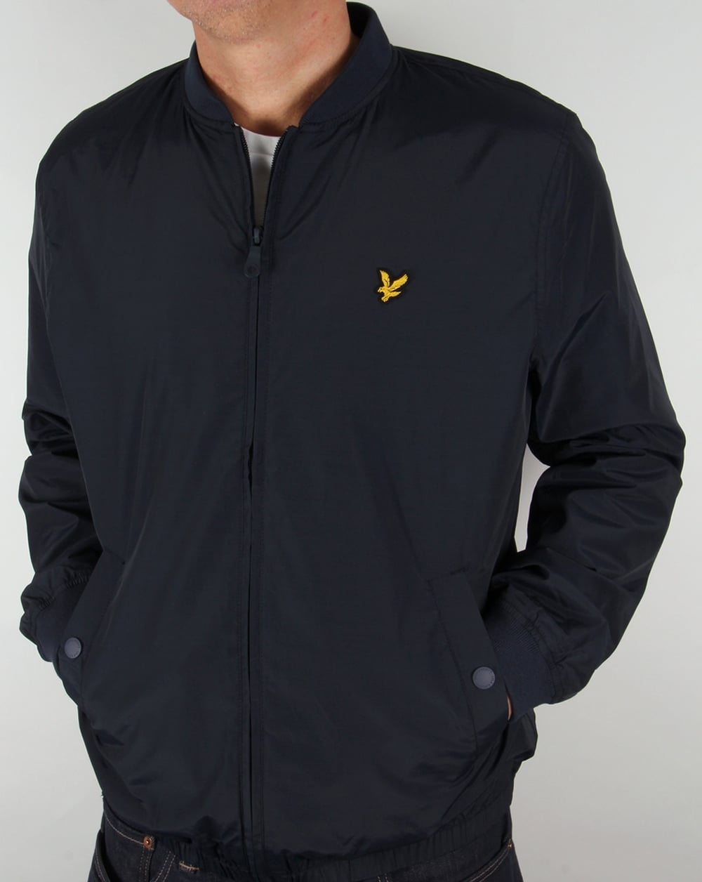 lyle and scott lightweight bomber jacket navy coat short mens. Black Bedroom Furniture Sets. Home Design Ideas