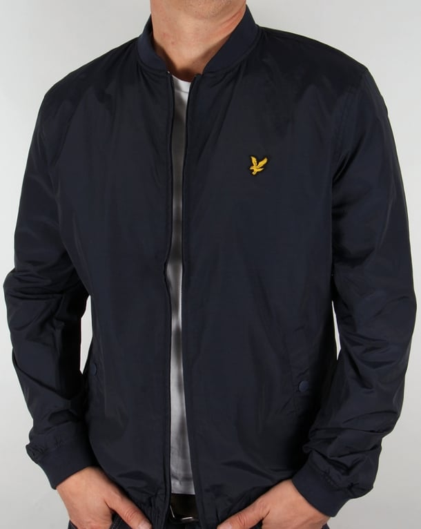 Lyle And Scott Lightweight Bomber Jacket Navy