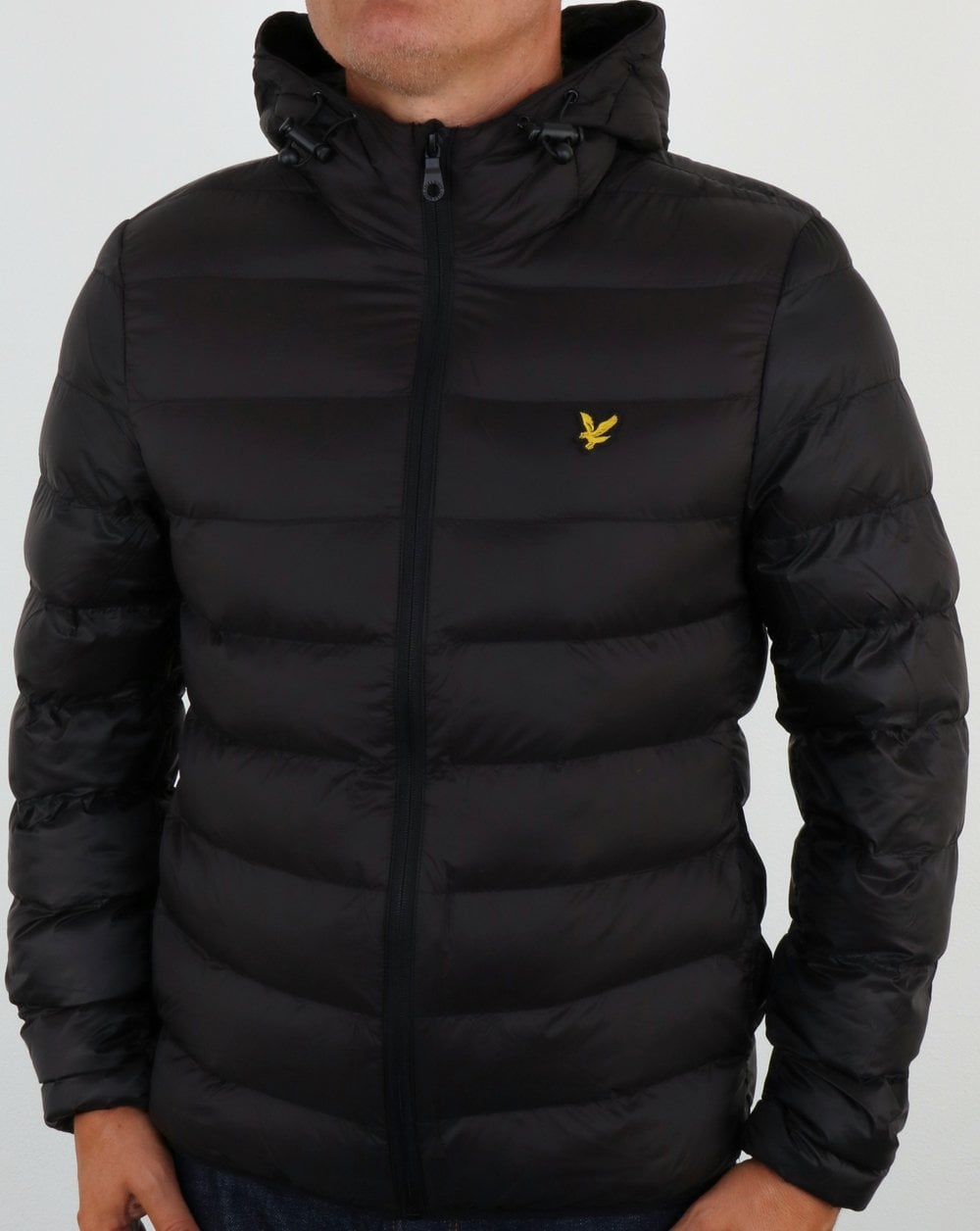 Lyle And Scott Lightweight Puffer Jacket Black Padded