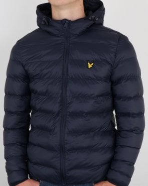 Lyle And Scott Lightweight Puffer Jacket Dark Navy