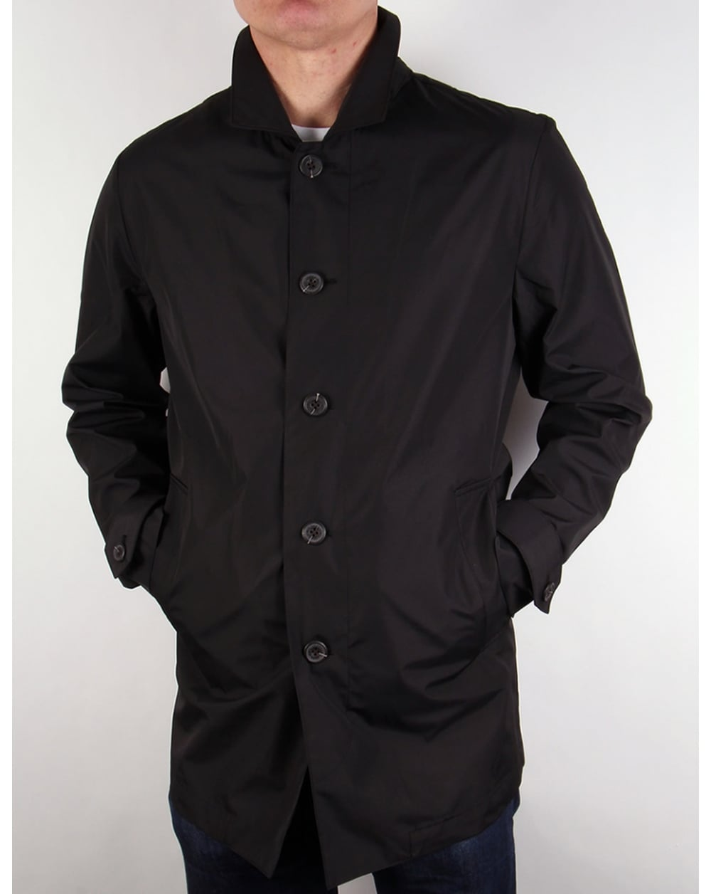 lyle and scott lightweight raincoat true black mac jacket coat mens. Black Bedroom Furniture Sets. Home Design Ideas