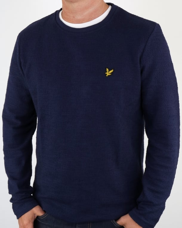 Lyle And Scott Lightweight Slub Sweatshirt Navy