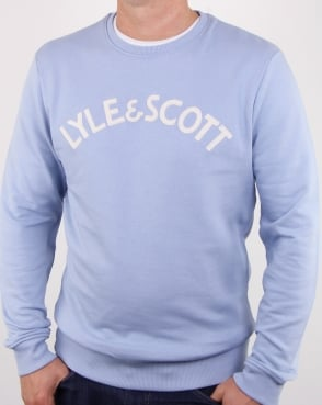 Lyle And Scott Logo Sweatshirt Sky Blue