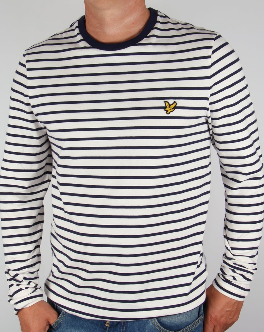 5e8476a3dd24 Lyle and Scott Lyle And Scott Long Sleeve Breton Stripe T-shirt Off White