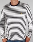 Lyle And Scott Long Sleeve Breton Stripe T-shirt Off White