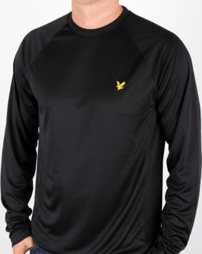Lyle And Scott Long Sleeve Fitness Tee  Black