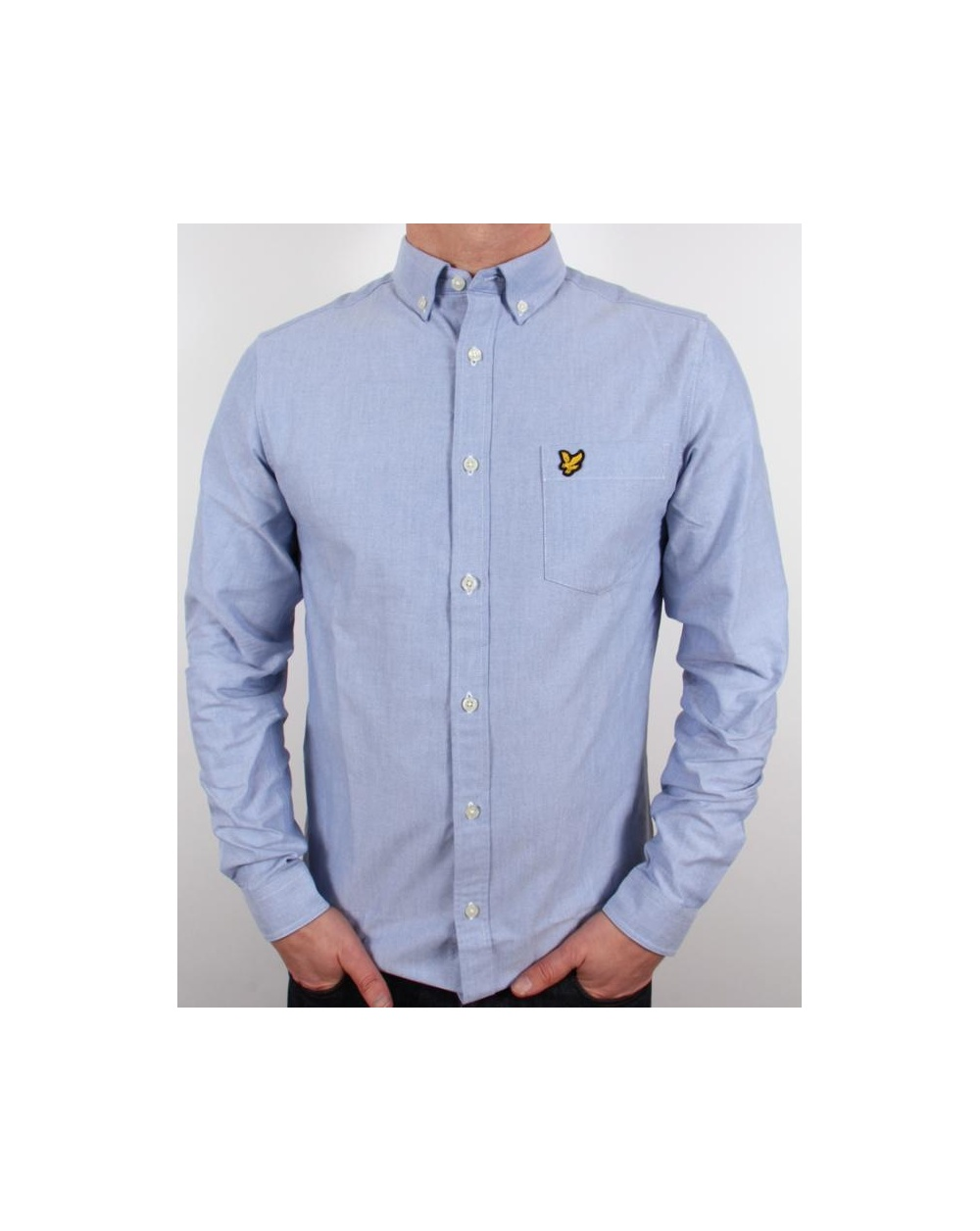 Lyle and scott long sleeve oxford shirt french blue for French blue oxford shirt