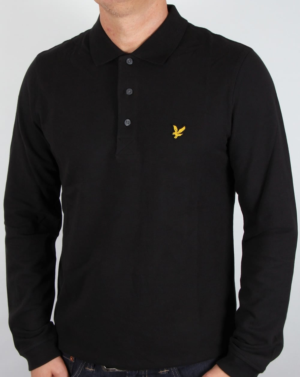 lyle and scott long sleeve polo shirt black lyle scott polo shirt. Black Bedroom Furniture Sets. Home Design Ideas