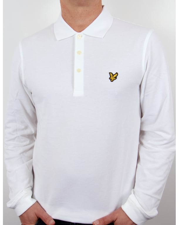 Lyle And Scott Long Sleeve Polo Shirt White