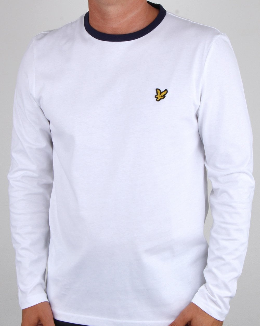 Mens Long Sleeve White T Shirt