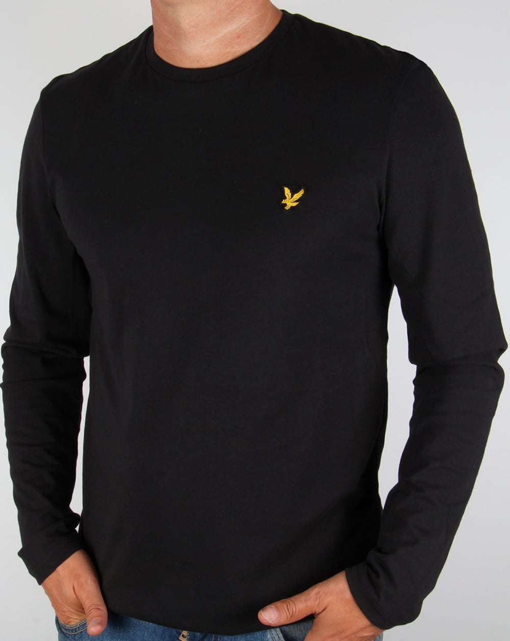 lyle and scott long sleeve t shirt black tee crew neck men 39 s. Black Bedroom Furniture Sets. Home Design Ideas
