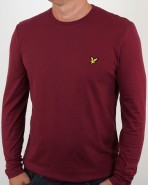 Lyle And Scott Long Sleeve T-shirt Claret Jug