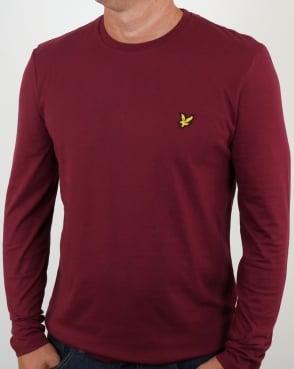 Lyle And Scott Long Sleeve T-shirt Claret