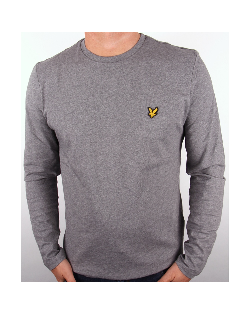 Lyle And Scott Long Sleeve T Shirt Grey Marl Lyle And