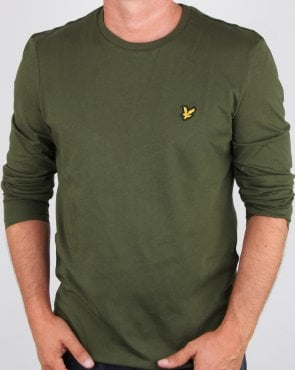 Lyle And Scott Long Sleeve T-shirt Woodland Green
