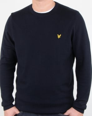 Lyle And Scott Merino Jumper Dark Navy
