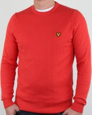 Lyle And Scott Merino Jumper Poppy Marl