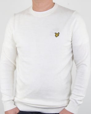 Lyle And Scott Merino Jumper Seashell White Marl