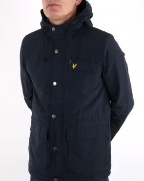 Lyle And Scott Micro Fleece Lined Jacket Dark Navy