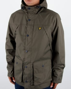 Lyle And Scott Micro Fleece Lined Jacket Olive