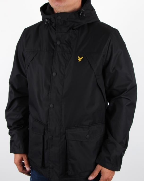 Lyle And Scott Micro Fleece Lined Jacket True Black