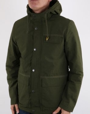 Lyle And Scott Micro Fleece Lined Jacket Woodland Green