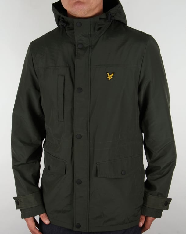 Lyle And Scott Microfleece Lined Jacket Dark Sage