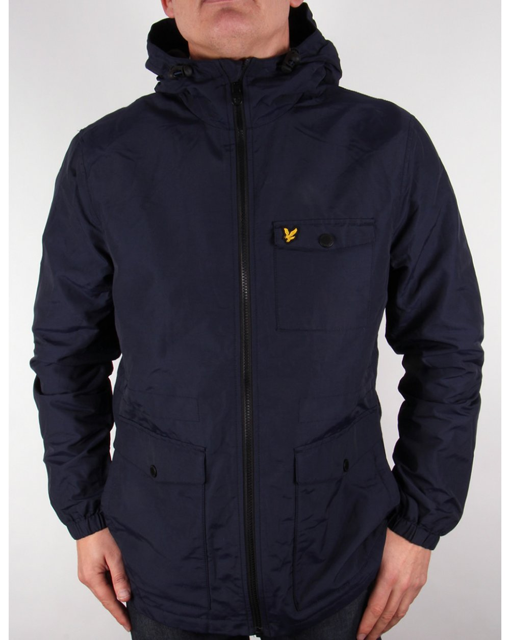 lyle and scott microfleece lined jacket navy parka coat mens. Black Bedroom Furniture Sets. Home Design Ideas