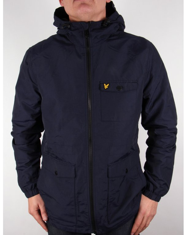 Lyle and scott vintage mens parka new navy