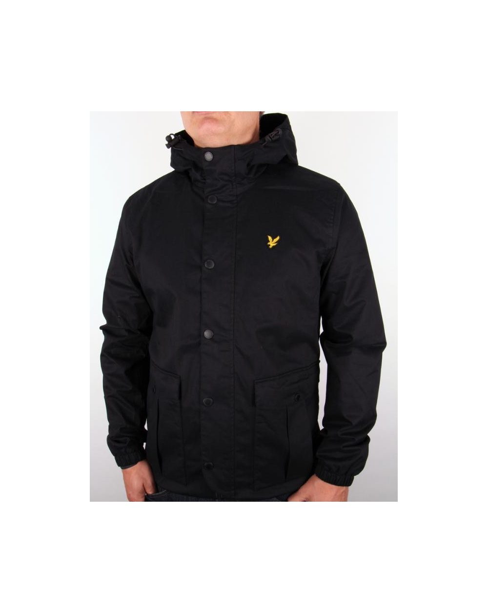 lyle and scott microfleece lined jacket true black parka. Black Bedroom Furniture Sets. Home Design Ideas