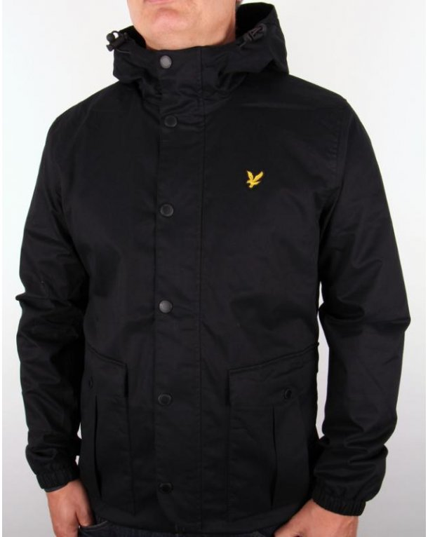 Lyle And Scott Microfleece Lined Jacket True Black