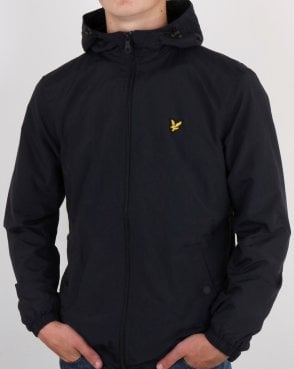 Lyle And Scott Microfleece Lined Zip Through Jacket Black