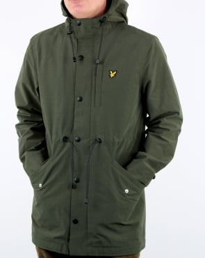 Lyle And Scott Microfleece Parka Leaf Green
