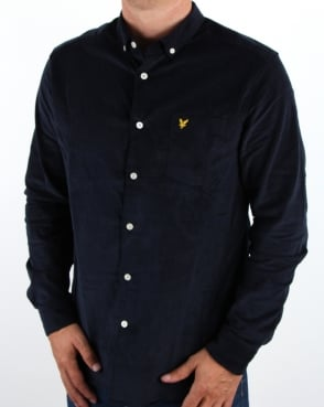 Lyle And Scott Mini Cord Shirt Navy