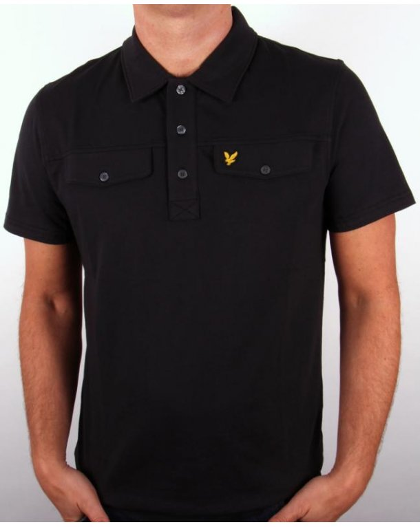 Lyle And Scott Mock Pocket S/s Polo Shirt Black