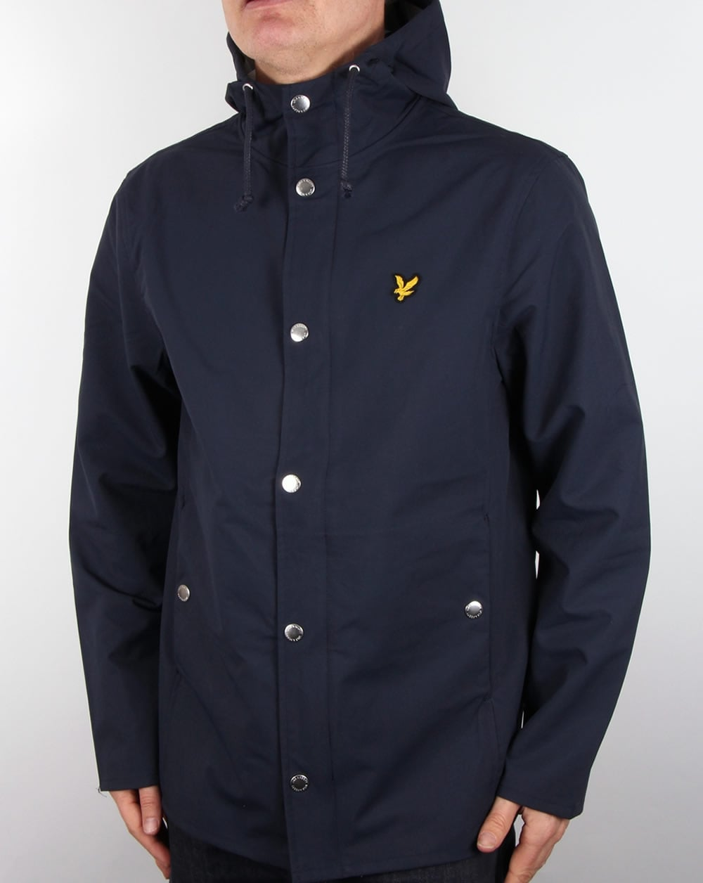 lyle and scott zip front raincoat navy jacket mens coat hooded. Black Bedroom Furniture Sets. Home Design Ideas